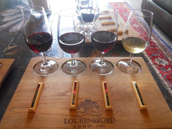 At Lourensford Wine Estate they paired chocolate with the wine. Hello! I want to go back!