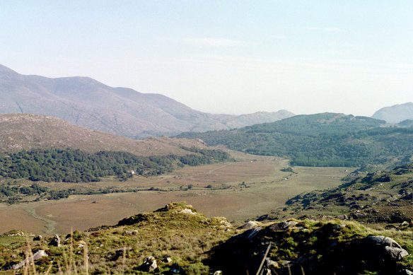 Taken at Moll's Gap of the valley below, 2003.