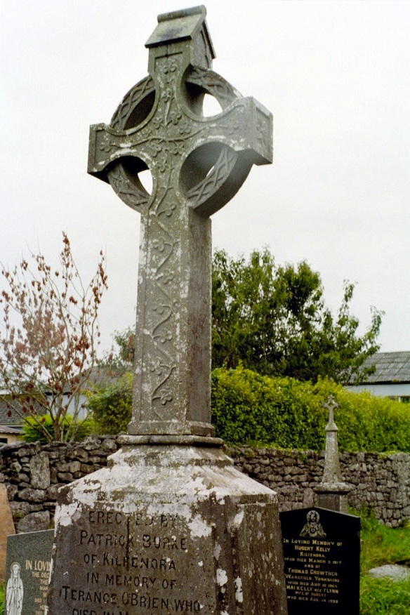 I liked this one for the shamrocks. Kilfenora Cathedral churchyard, 2003.