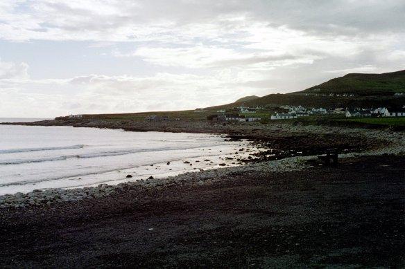 It's a pretty little rocky beach.