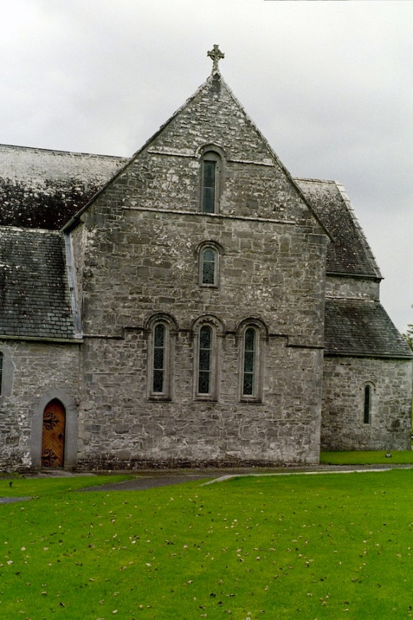Exterior of the church at Ballintubber Abbey, 2003.