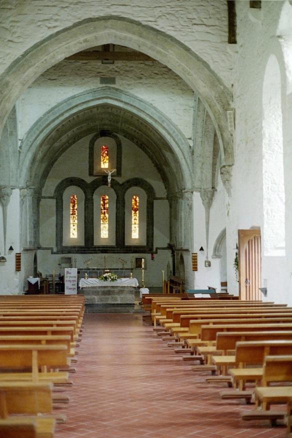 Interior of Ballintubber Abbey church, 2003.