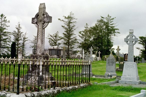 The graveyard was impressive. Ballintubber Abbey, 2003.