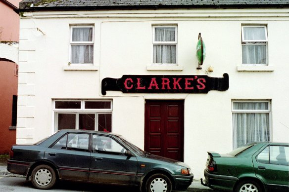 Never pass a bar with your name on it. Clarke's, Cong, Co. Mayo, 2003.
