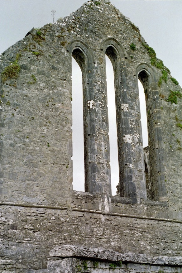Just imagine what it looked like when it had a roof! Cong Abbey, 2003.