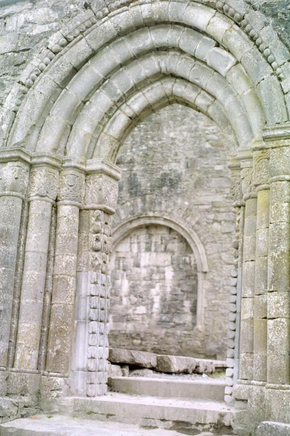 Beautiful Romanesque doorway, Cong Abbey, 2003.
