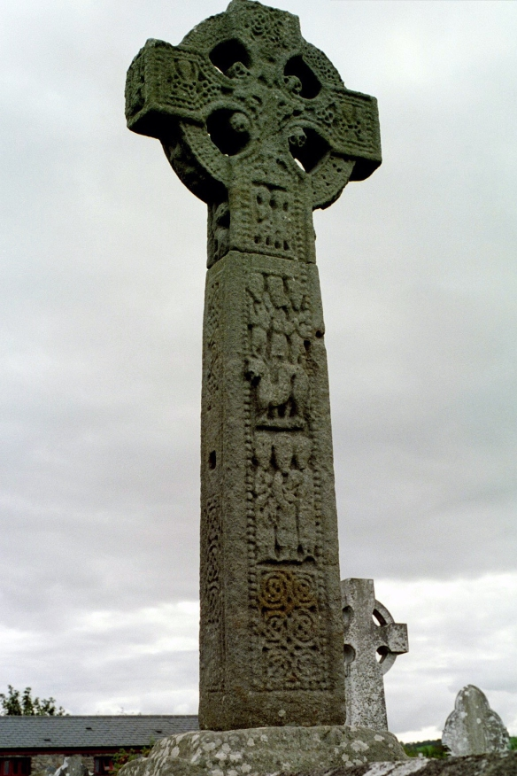 This is the other side of the ninth-century high cross at Drumcliffe. Still so much detail in this 1200-year-old cross!