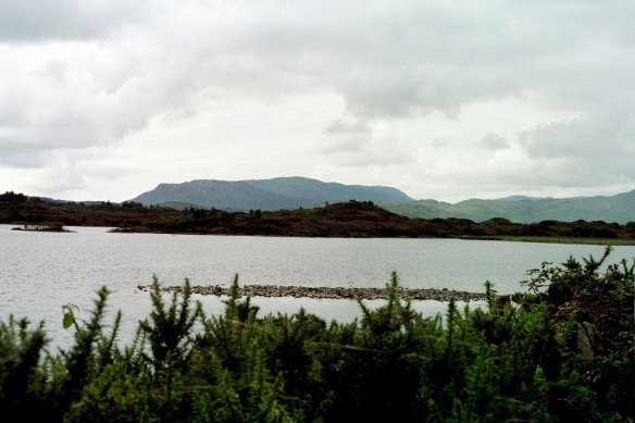 We drove along Lough Corrib—it's a very large lake—for miles.