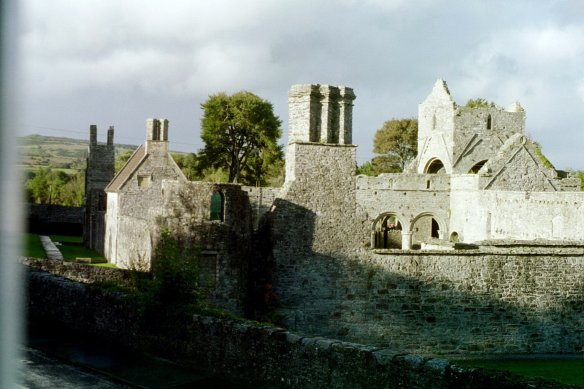 View of Boyle Abbey from our B&B.