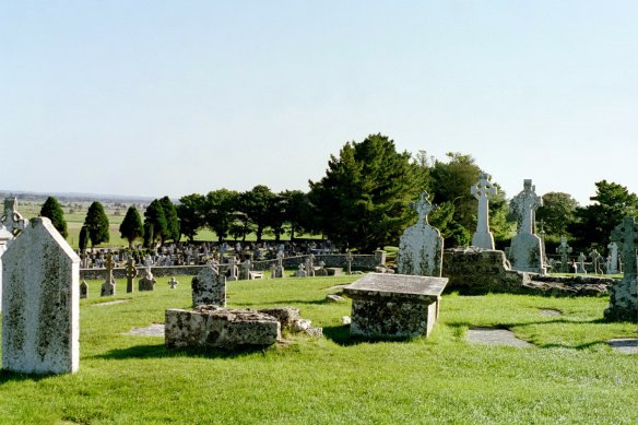 "In the foreground, the very old graves; the more crowded cemetery you see at the back is what they call the ""new"" cemetery."