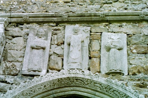"Privately, I always think of this as ""the smiling monks."" :) Clonmacnois 2003."