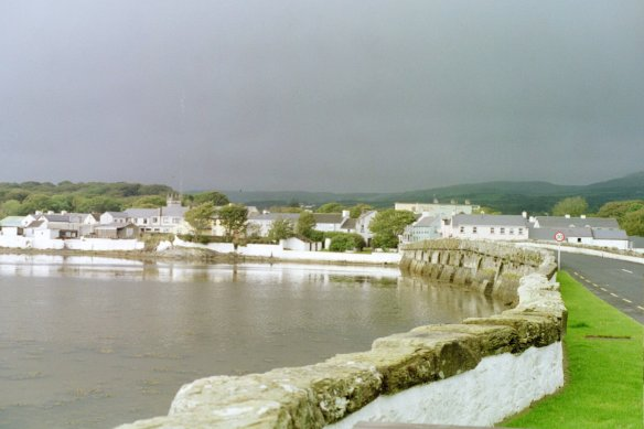 Ten arches, built in 1758: the bridge at Malin, 2003.