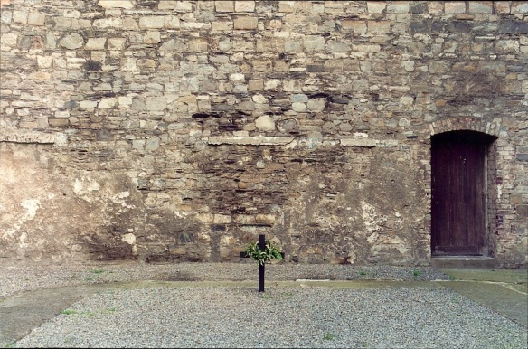 The yard at Kilmainham Gaol where the Easter Rising patriots faced the firing squad.