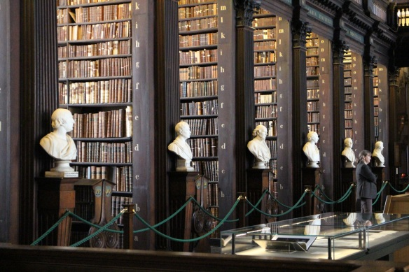 The Long Room is lined with marble busts: great philosophers, writers, and men connected with Trinity, such as Jonathan Swift.
