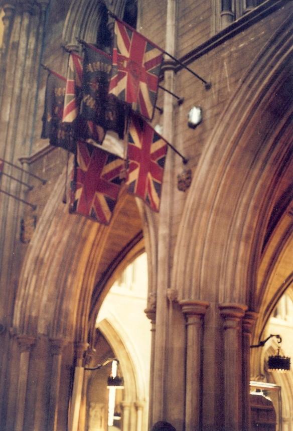Battle flags. The Irish Catholic accompanying me shuddered a little.