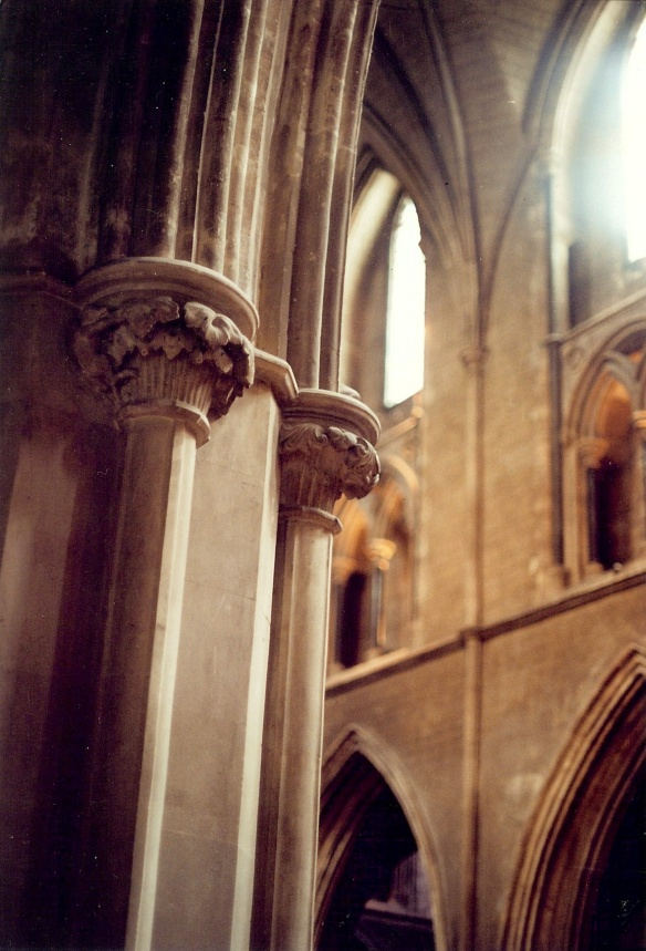 By this time I was keeping an eye out for capitals. These are lovely. St Patrick's Cathedral 2003.