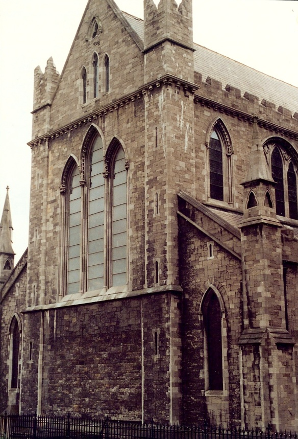 Here's just a little bit of the exterior. St. Patrick's Cathedral 2003.