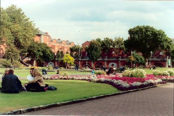 The lovely park attached to St. Patrick's Cathedral, Dublin 2003.