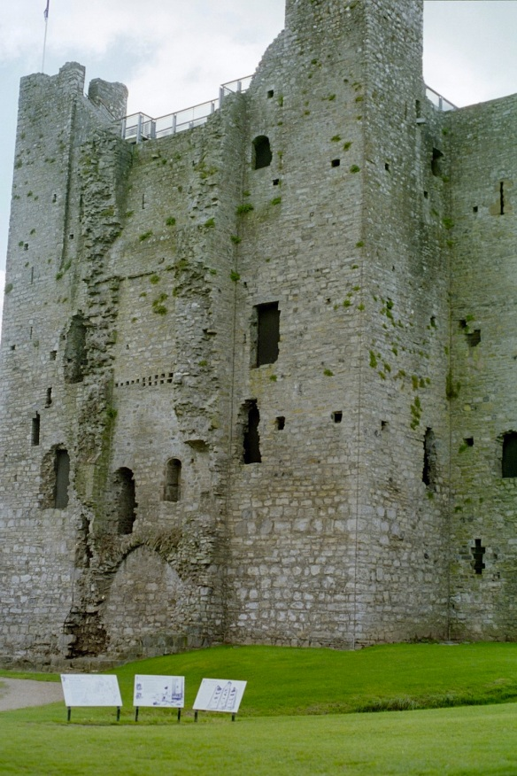 In spite of what is missing … it's pretty big! Trim Castle, 2003.