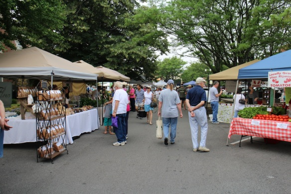 A Saturday Market on the Square in Murfreesboro, Tennessee.