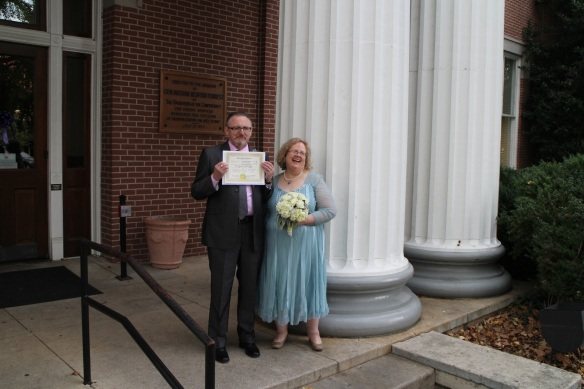 We got our marriage certificate on the spot, no waiting!