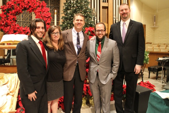 Phoenix Chamber Brass: Greg Lloyd, Rose French, Donald Smith, Jesse Chavez, Matt Lennex.