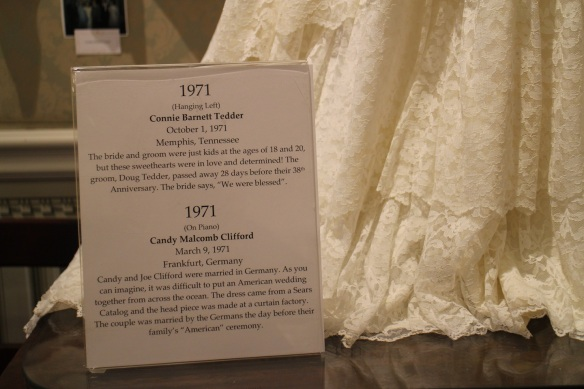 There's a little bit of history with each dress.