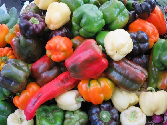 Just look at these peppers! Love the colors!
