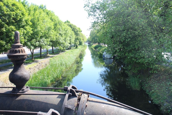 View of the Grand Canal from the Leeson Street bridge, looking west.