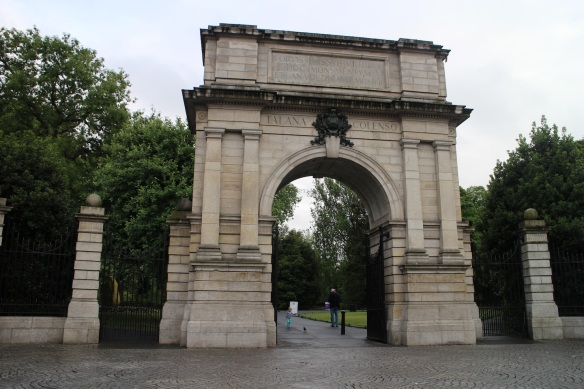 It's lovely. Fusiliers' Arch, Dublin, 2015.