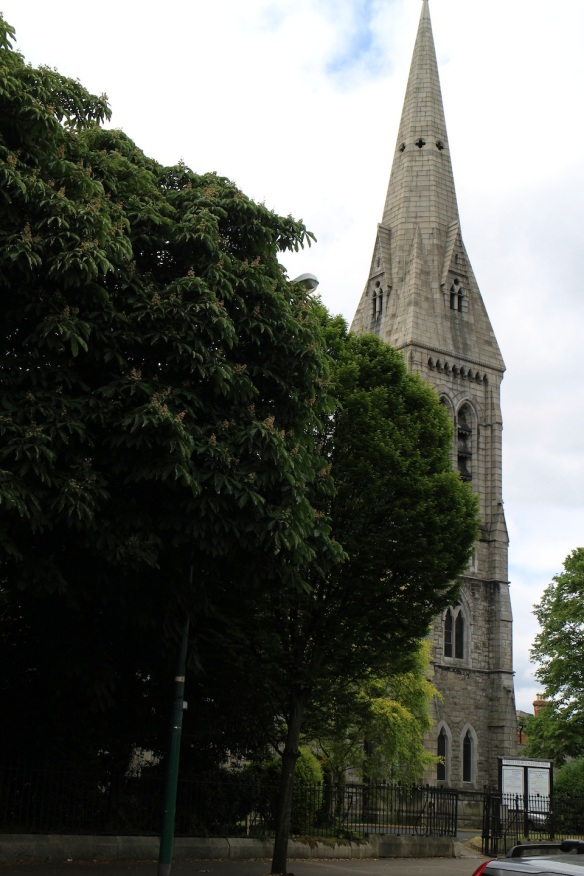 At last the church and its spire came into view.