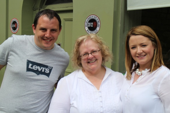 Gerry took this one of Conor, me, and Orla.