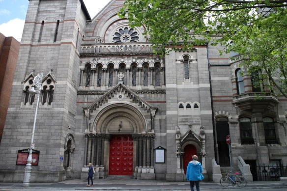 A closer look at St. Ann's on Dawson Street, Dublin.
