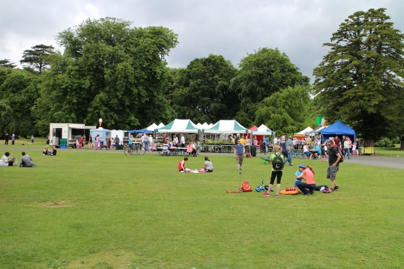 The farmers market at the Red Stables in St. Anne's Park, Dublin, June 2015.