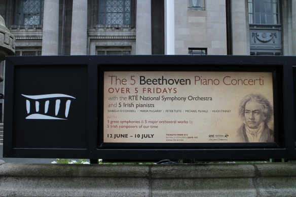 When I saw this, I was truly sorry I wasn't going to be in Dublin all summer. Beethoven, I must tell you, was my first celebrity crush. I fell in love with him when I was about eight years old and never fell out. :)