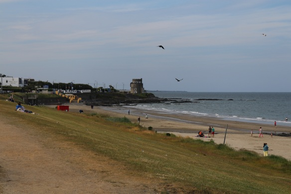 Looking north, and yes, that is a Martello tower, built in 1805.