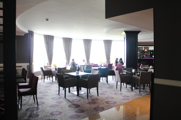 Tucked behind the reception desk is the Seaview Lounge, which looks out on the beach.