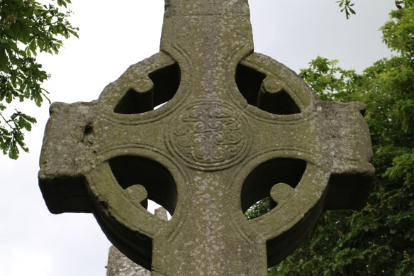 This is about all that survives of the North Cross. This is the eastern face (a medallion); the reverse is a simple crucifixion. In its day it was probably painted.
