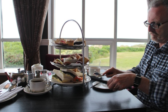 Afternoon tea in the Seaview Lounge.