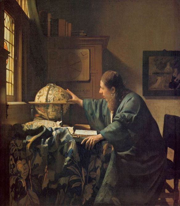 Vermeer: The Astronomer (1668), Louvre, Paris. Public domain image from Wikipedia.