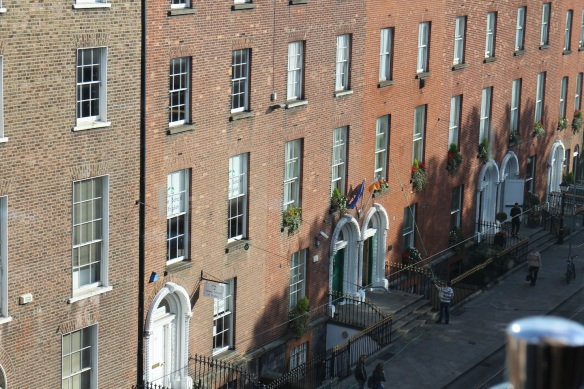 The view from the Harcourt Street side of the roof.