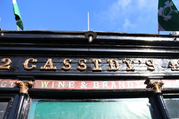 Cassidy's on Camden Street, Lower. Look at that brilliant blue sky!