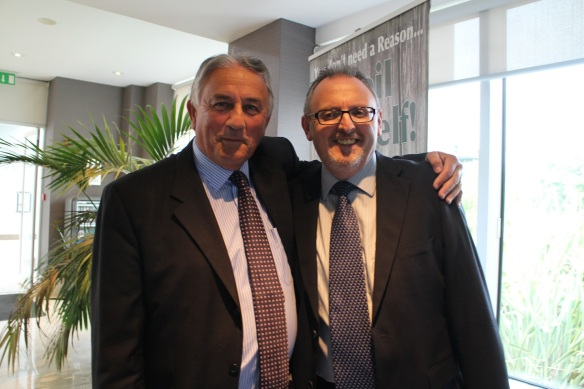 Together again: Pat and Gerry.