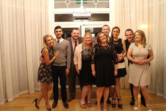 Alli, Sabas, Neil, Maureen, Clare, Eoin, Tracy, Conor, Orla.