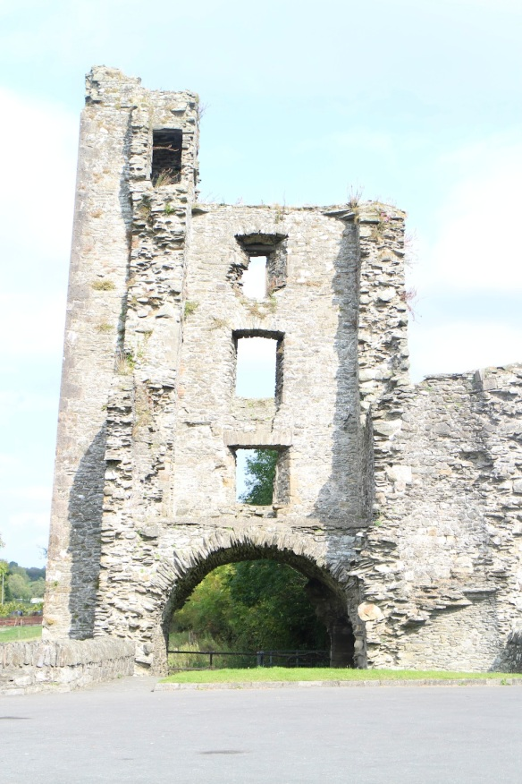 The gatehouse; it's three stories high.