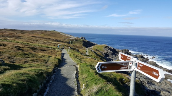 "John took this photo of the trail along Malin Head, which he called ""tame,"" at least in this stretch."