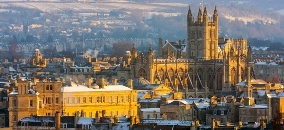 I snagged this photo of Bath Abbey from the NYTimes article © 2014.