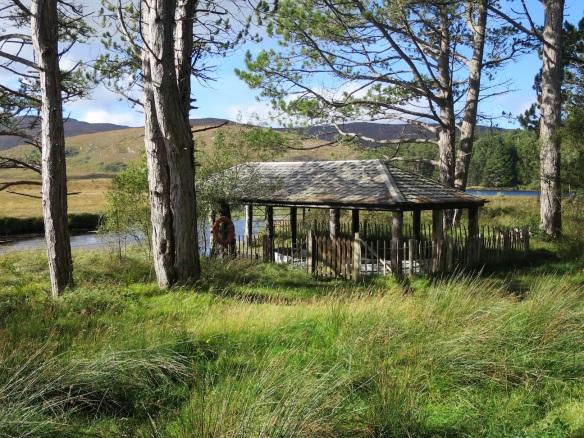 A little boathouse on Lough Veagh.