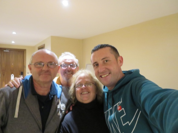Richie, Gerry, me, Eoin.