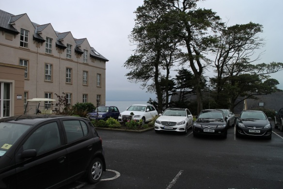 Arrival at Redcastle Inn—the lake in the distance.